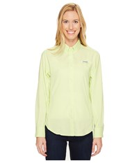 Columbia Tamiami Ii L S Shirt Spring Yellow Women's Long Sleeve Button Up