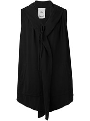 Lost And Found Rooms Sleeveless Hoodie Black
