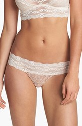 Women's B.Tempt'd By Wacoal 'Lace Kiss' Thong Mother Of Pearl