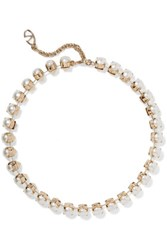 Valentino Gold Plated Pearl Necklace Unknown