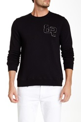 Joe's Jeans Devlin Distorted Long Sleeve Pullover Black