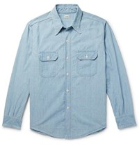 Chimala Cotton Chambray Shirt Light Denim