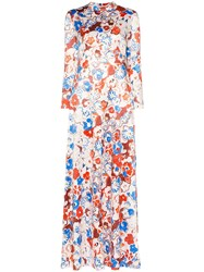 Vika Gazinskaya Floral Print Maxi Dress Multicoloured