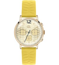 Orla Kiely Ok2004 Frankie Leather And Stainless Steel Watch Gold