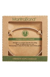 Mantraband Women's Strength Hope Courage Engraved Cuff Rose Gold