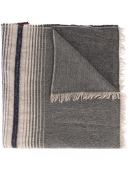 Etro Striped Detail Scarf Red