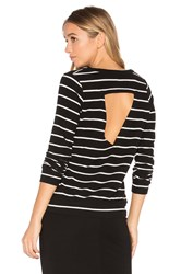 Chaser Triangle Open Back Pullover Black