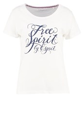 Esprit Sports Print Tshirt Off White
