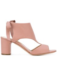 Casadei Chunky Heel Sandals Pink Purple