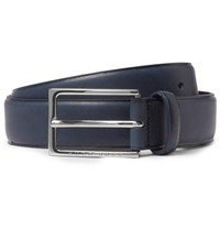 Hugo Boss 3.5Cm Navy Ceddy Leather Belt Navy