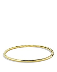 David Yurman Cable Inside Bangle In Gold Yellow Gold