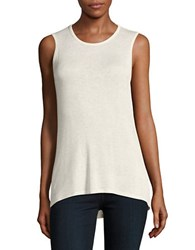 Bobeau Cutout Back Sleeveless Top White