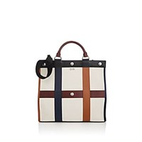 Sonia Rykiel Cindy Leather Trimmed Canvas Tote Bag Navy