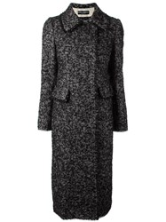 Dolce And Gabbana Boucle Midi Coat Black