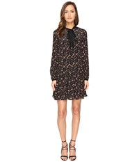 Mcq By Alexander Mcqueen Pintuck Pussybow Dress Vintage Floral