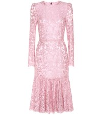 Dolce And Gabbana Lace Dress Pink