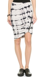 Pam And Gela Twisted Zip Skirt Black Multi