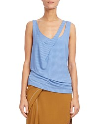 Atlein Double Strap Ribbed Tank Light Blue