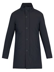 Herno High Collar Down Filled Coat Navy