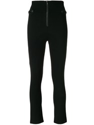 Balmain Pierre Zipped Skinny Trousers Black