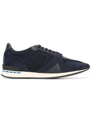 Burberry Panelled Sneakers Blue