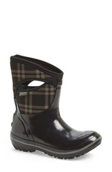 Bogs 'Plimsoll Plaid' Mid Waterproof Snow Boot Women Black