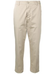 Dondup Slim Fit Cropped Trousers Neutrals