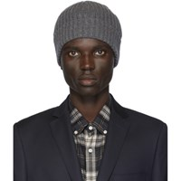 Officine Generale Grey Cashmere Beanie
