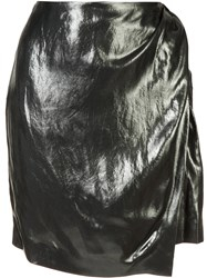 Iro Wrap Front Skirt Metallic