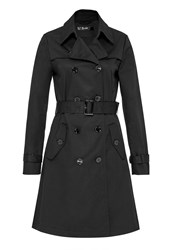 Hallhuber Trench Coat With Pleating Black