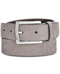 Cole Haan Men's Nubuck Leather Belt Gray