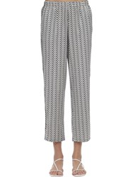 Laura Urbinati Printed Silk Satin Pajama Pants White