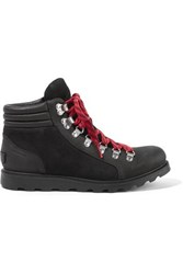 Sorel Ainsley Conquest Waterproof Leather And Suede Ankle Boots Black