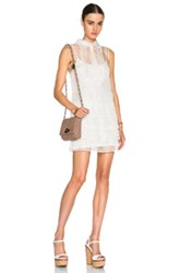 Red Valentino Eyelet Lace Mini Dress In White