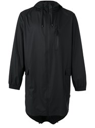 Rains Long Zip Jacket Men Polyester Polyurethane Xxs Xs Black