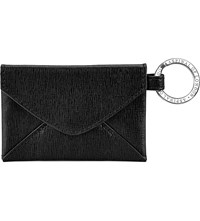 Aspinal Of London Envelope Pouch Textured Leather Keyring Black
