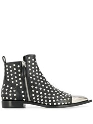 Alexander Mcqueen Studded Ankle Boots Black