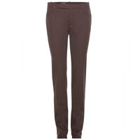 Loro Piana Barny Cotton Twill Trousers Chocolat