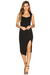 Nookie Captivate Square Neck Midi Dress Black