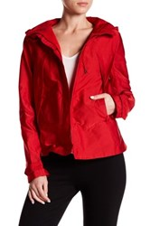 Canvas By Lands' End Short Swing Parka Red