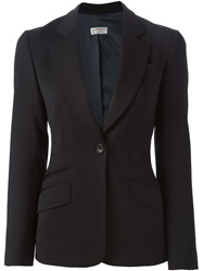 Alberto Biani Fitted Blazer Blue