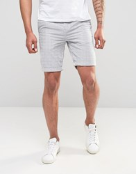 New Look Stripe Shorts In White And Blue Blue