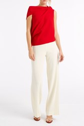 Helmut Lang Crepe Wide Trousers Ivory