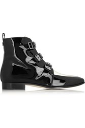 Jimmy Choo Marlin Patent Leather Ankle Boots Black