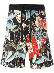 Christian Pellizzari Floral Print Shorts Black