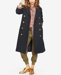 Denim And Supply Ralph Lauren French Terry Officer's Coat Brook Indigo