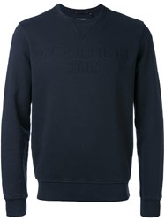 Woolrich Crew Neck Sweatshirt Men Cotton S Blue