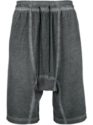 Tom Rebl Faded Drop Crotch Shorts Grey