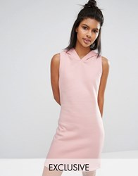 Nocozo Pastel Short Dress With Hood Blush Pink Blue