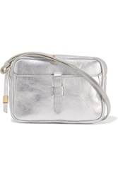 Iris And Ink Metallic Leather Shoulder Bag Silver